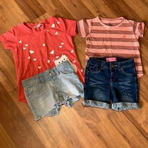 4t bundle! Two shirts and two pairs shorts.